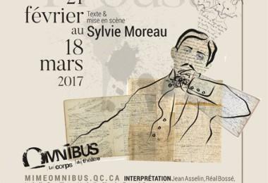 Dans la tête de Proust, OMNIBUS 2017   Texte + Mise en scène de Sylvie Moreau